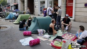 Madonna fans camp out before her show in Paris