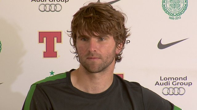 Celtic midfielder Paddy McCourt