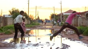 Image of road in Soweto from the BBC World News programme Our World: &quot;Corruption crusader&quot;