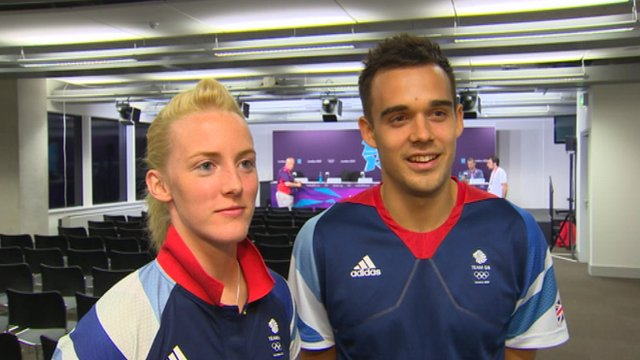 Imogen Bankier (left) and Chris Adcock