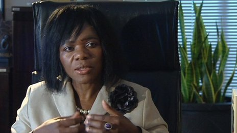 Thuli Madonsela seen in the BBC World News programme Our World: &quot;Corruption crusader&quot;