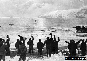 Shackleton's crew on Elephant Island