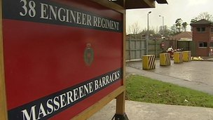 Massereene Barracks sign