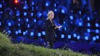 Harry Potter author J.K. Rowling takes part in the opening ceremony