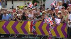 Spectators in Ripley, Surrey