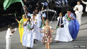 Mauritania at the opening ceremony