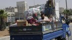 Syrian civilians leave Aleppo (27 July)