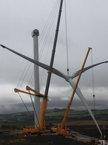 Construction of wind turbines