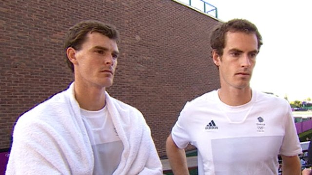 Jamie Murray (left) and Andy Murray