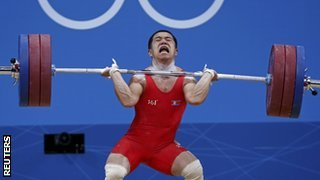 North Korean weightlifter Om Yun Chol
