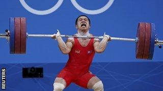 North Korean weightlifter Om Yun Chol