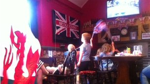 Cooke's supporters in Wick watched the road race in the Lamb and Flag pub