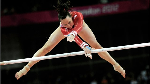Beth Tweddle on uneven bars