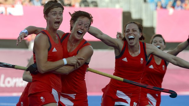 Team GB woman hockey team