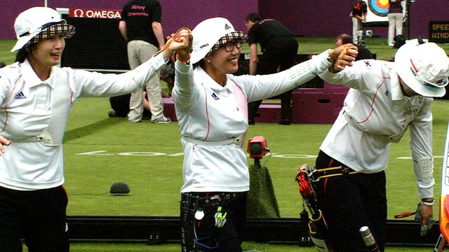 South Korea's women win archery gold