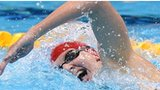 Rebecca Adlington competes in the 400m freestyle heats