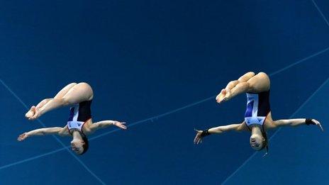 Alicia Blagg (right) with her diving partner Rebecca Gallantree