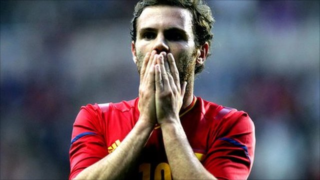 Spain's Juan Mata suffered defeat