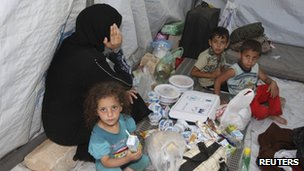 Syrian refugees in a camp near Al Ramtha, Jordan (25 July 2012)