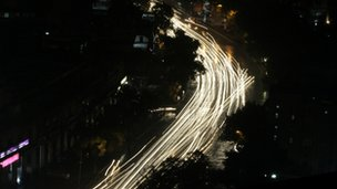 File picture of Delhi at night