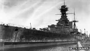 HMS Hood Battleship Wreck http://www.bbc.co.uk/news/uk-england-hampshire-19044519