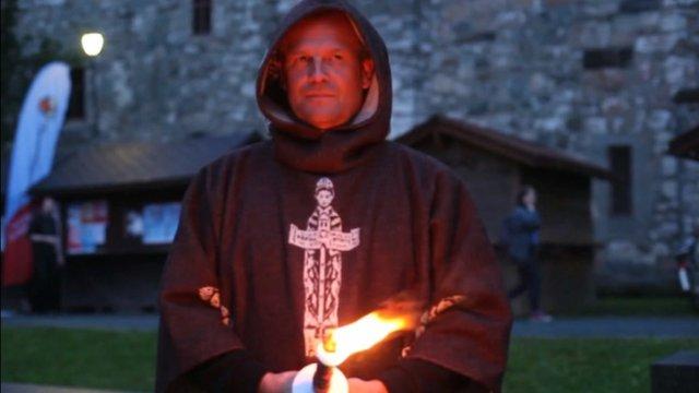Pilgrim at St Olav festival