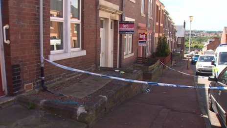 Scene of Gateshead stabbing
