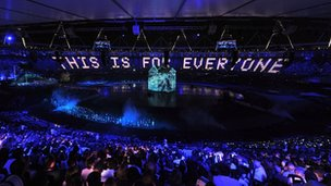 Sir Tim Berners-Lee tweets during the Olympic opening cerimony