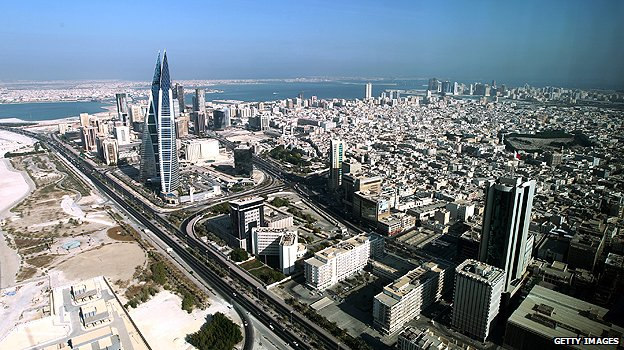 Aerial photograph of Manama Bahrain Pop Culture Middle East blog