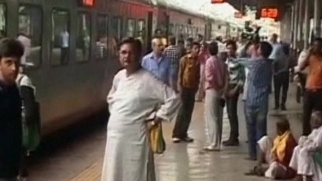 Trains were stranded after the outage in northern India