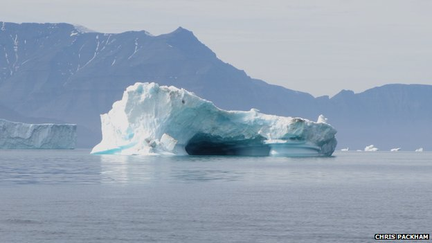 Iceberg sculpted by water