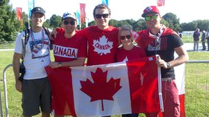 Canadian supporters at Eton Dorney