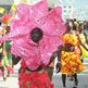 Woman dressed as a flower parading in Port-au-Prince