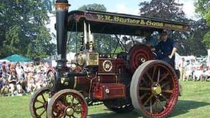 Traction engine at Fairford Steam Rally
