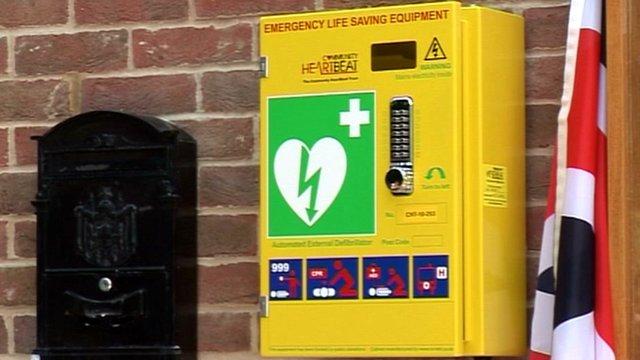 Public defibrillator in Pickworth, near Grantham