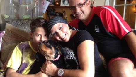 Rawlinson family and Penny the dog