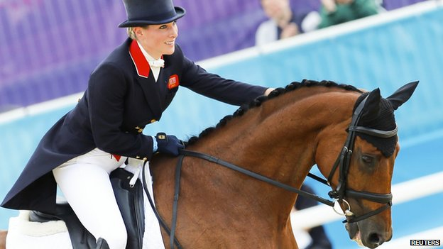 Zara Phillips on her horse