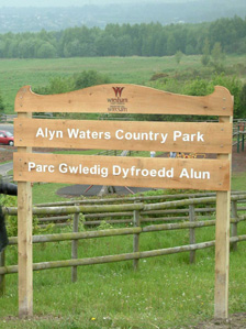 Alyn Waters Country Park sign