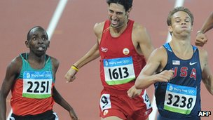 Athletes racing in Beijing Olympics