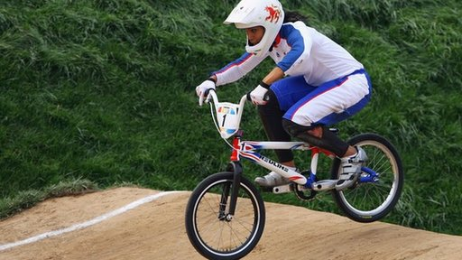 Shanaze Reade on her BMX
