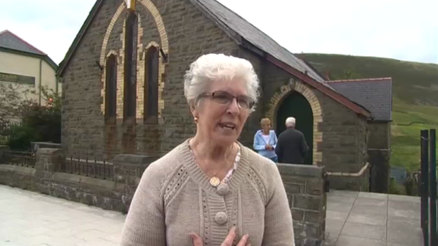 Maerdy church protester Barbara Daniel