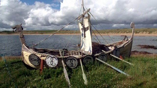 Replica of a Viking longship in Cruden Bay