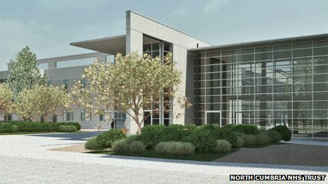 Artist&#039;s impression of the New West Cumberland Hospital