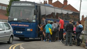 Coach ready to leave for Skegness