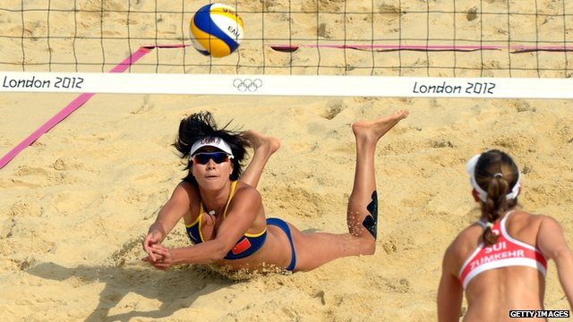 China v Switzerland Olympic beach volleyball