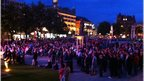 The atmosphere was electric at Big Screen Belfast, in the grounds of the majestic City Hall