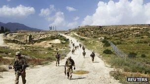 A US Army base Paktiya, Afghanistan 14 July 2012