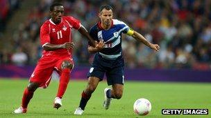 Ryan Giggs playing for Team GB against UAE
