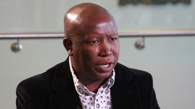 Julius Malema          Photo: Manuel Toledo, BBC Africa