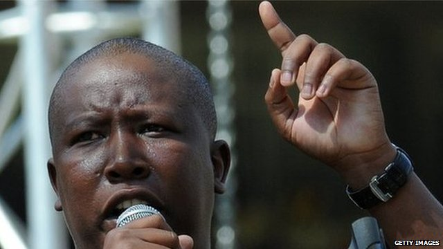 Julius Malema speaking at an ANC rally in Johannesburg, March 2010